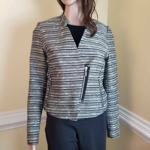 Mossimo Womens Party Jacket Gold Zipper Lined 8